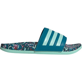 adidas Adilette Comfort Slides Women, active teal/clear mint/wild teal